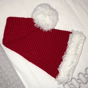 MUD PIE Soft Christmas Santa hat for baby/infant